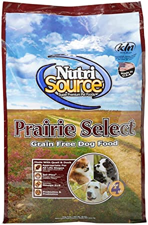 Nutrisource Grain Free Prairie Select With Quail Dog Food 30Lb
