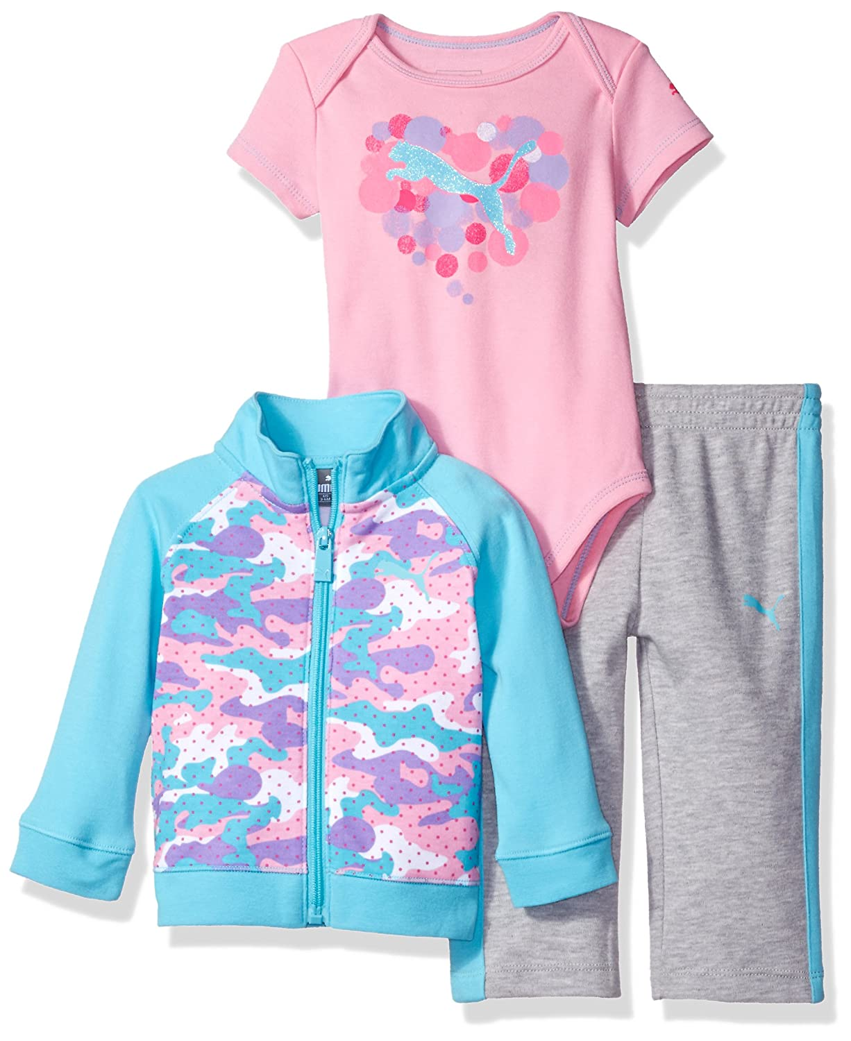PUMA Baby-Girls Baby 3 Piece Interlock Set 31175315