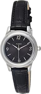 Timex Women's Quartz Watch, Analog Display and Leather Strap TW2R86300
