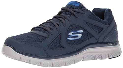 Skechers Skech-Ascent-Sherrod, Sneaker Uomo, Nero (Black/Blue), 48.5 EU