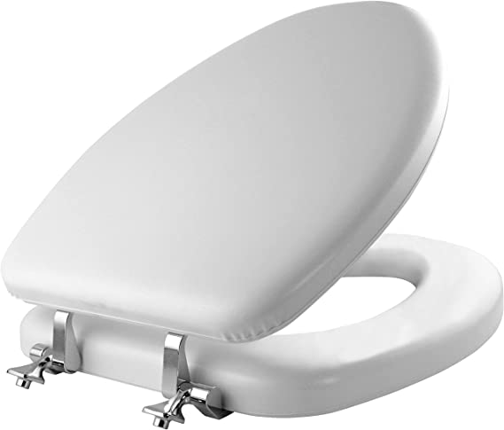 MAYFAIR Soft Toilet Seat with Chrome Hinges