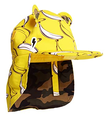 650671c3bfeaa Children s Baseball with Roll Up Neck Flap Sunhat  Cub in Banana Split.  Award Winning Cotton Print Sunhat with UV Protection