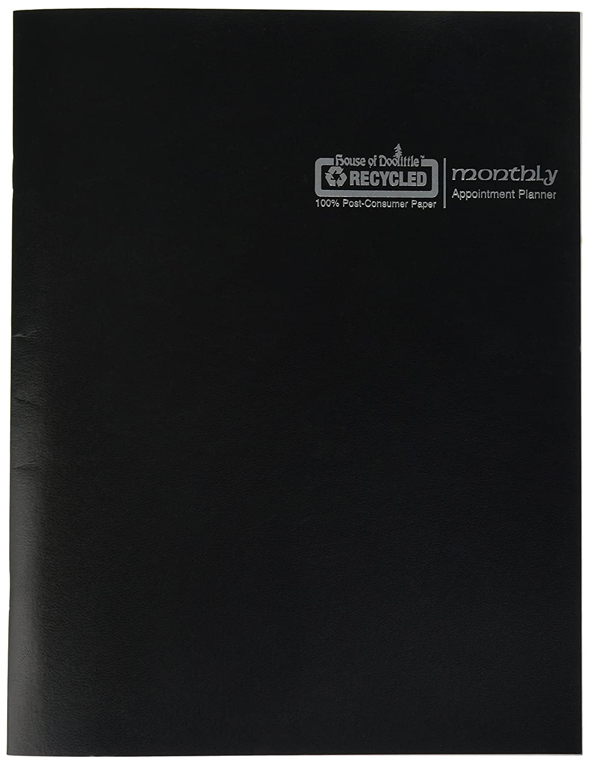 House of Doolittle 2018 Economy Calendar Planner, Monthly, Black Cover, 8.5 x 11 Inches, December - January (HOD26002-18)