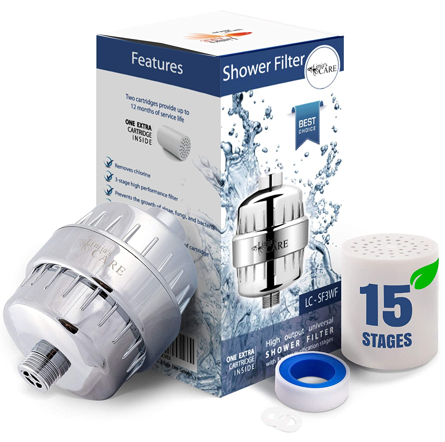 3. Limia's Care 15-Stage Shower Filter