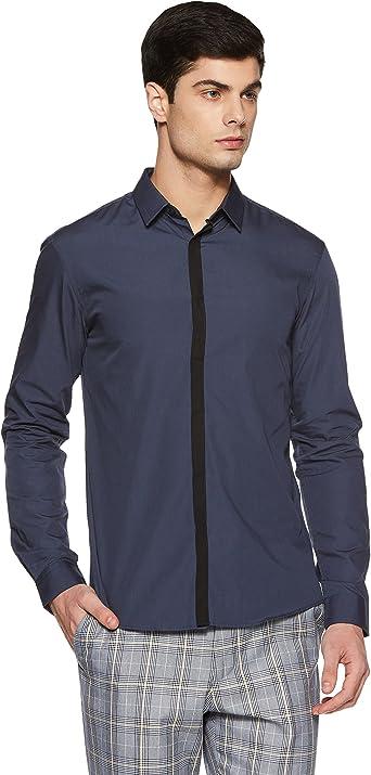 Celio Darigot Camisa, Azul (Encre), 41 para Hombre: Amazon.es ...