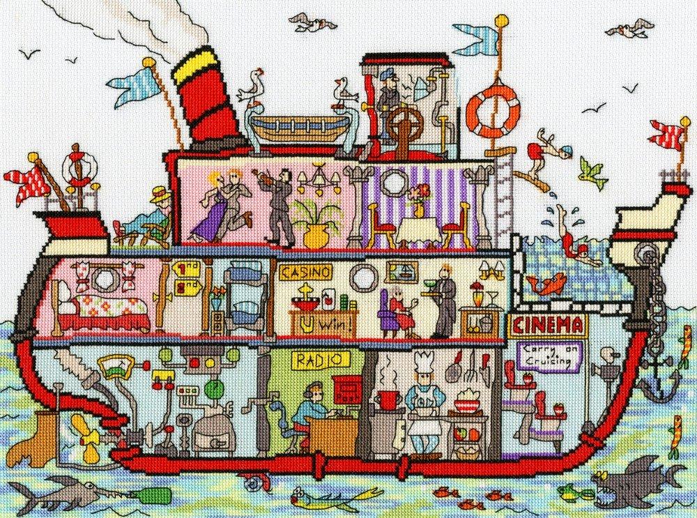 Cut Thru Cruise Ship Cross Stitch Kit