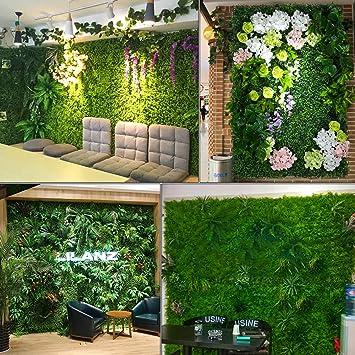 Justdolife Planta De Cobertura Decorativa Planta Artificial Creativa Jardín De Pared Planta Verde: Amazon.es: Hogar