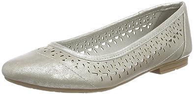 Softline Damen 22161 Geschlossene Ballerinas, Silber (Silver), 41 EU