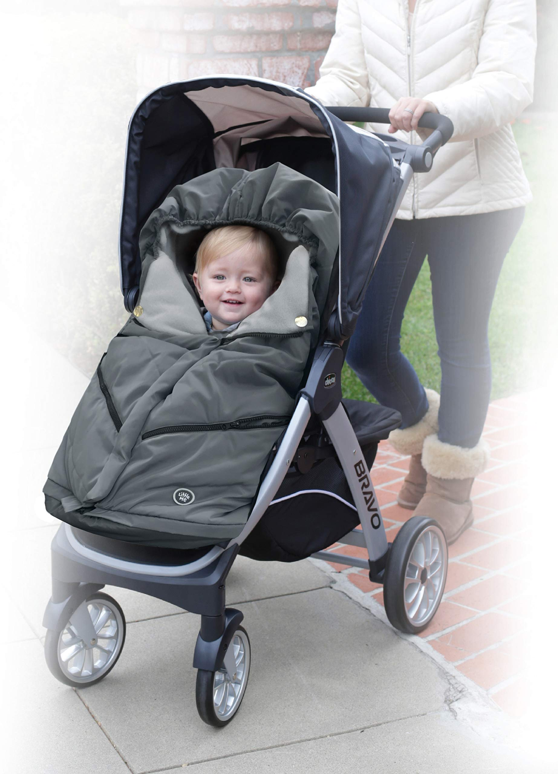 Little Me Footmuff for Strollers, Grey by Little Me (Image #2)