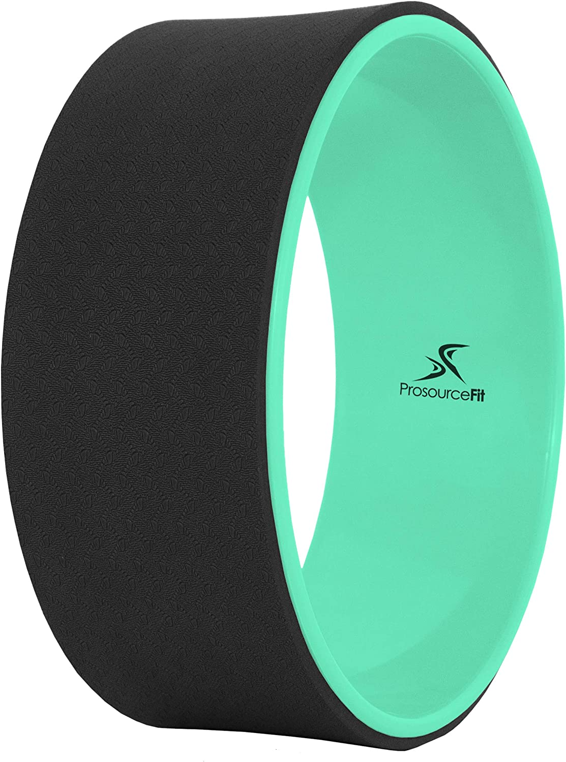 "Prosource Fit Yoga Wheel Prop 12"" for Improving Yoga Poses & Backbends, Flexibility, Balance, Stretching, Relaxation, Black/White"
