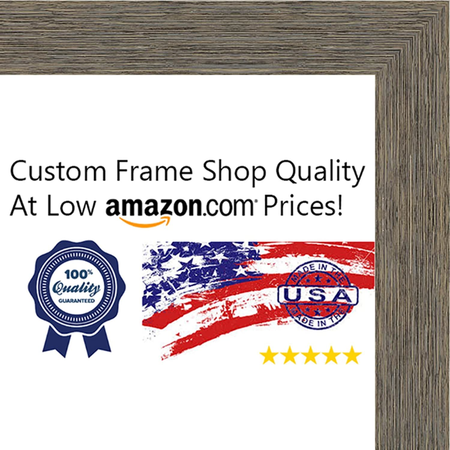 Amazon.com - 28x40 Rustic Color Wood Picture Frame - UV Acrylic ...