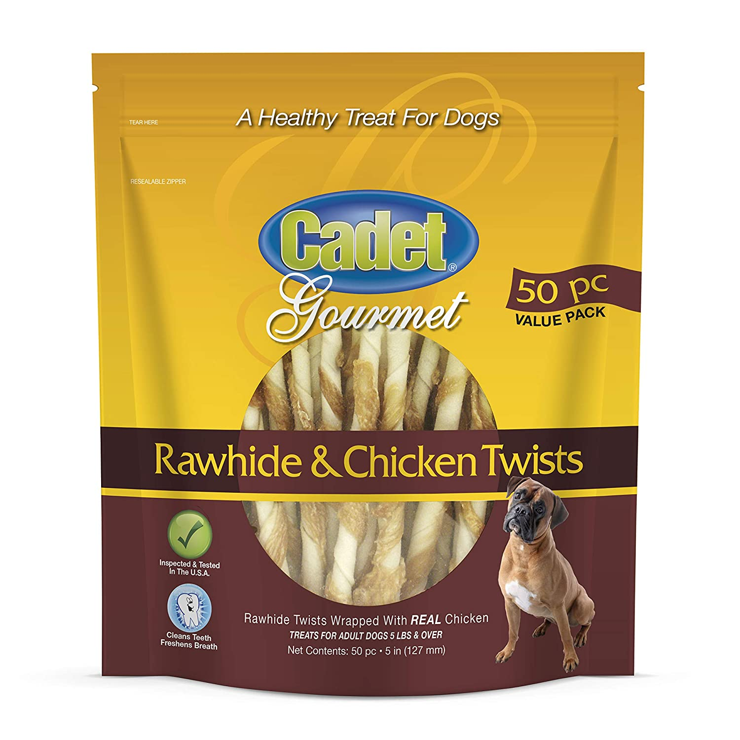 Cadet Rawhide and Chicken or Duck Dog Chew Treats