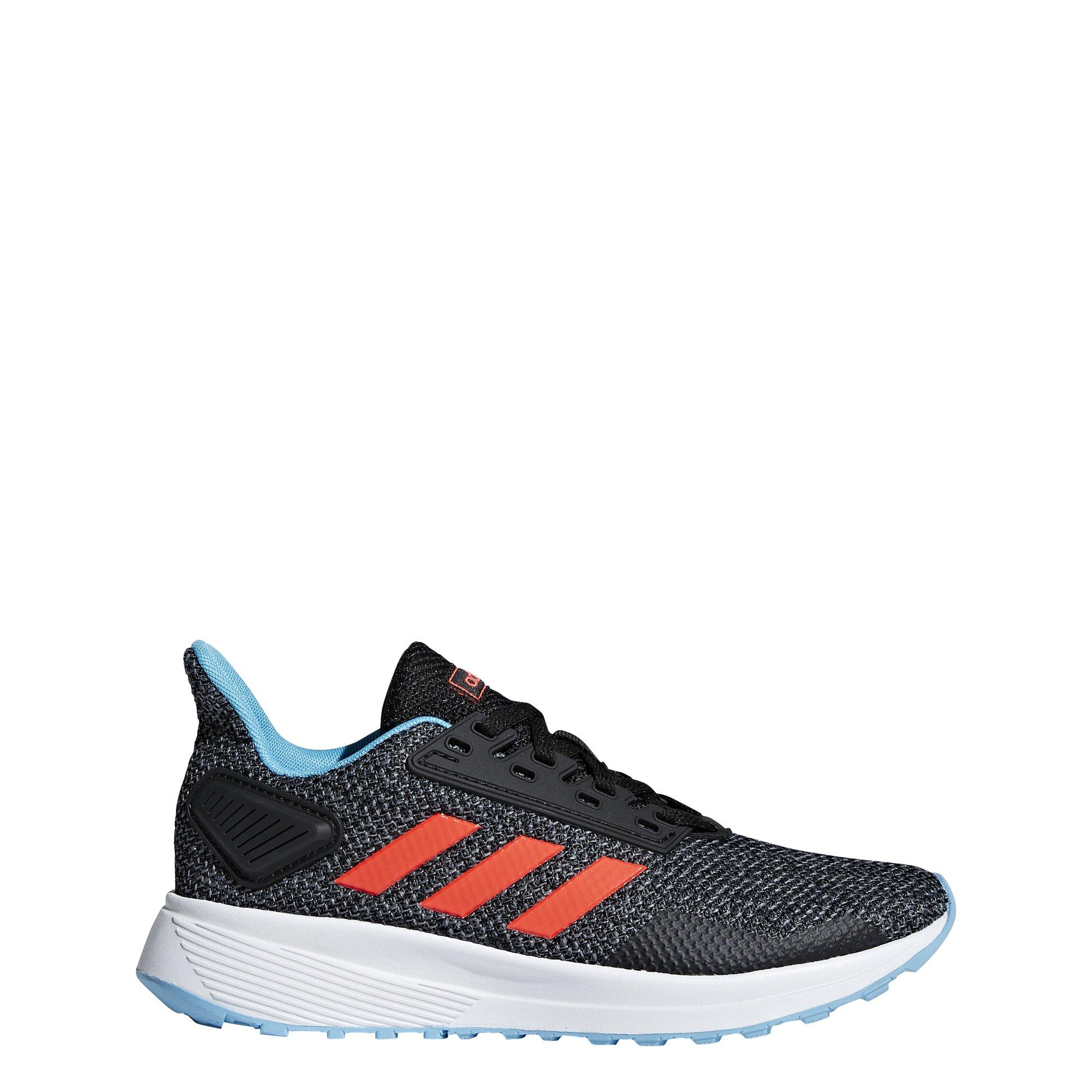 adidas Performance Unisex-Kids Duramo 9 Running Shoe, Black/Solar Red/Grey, 1 M US Little Kid
