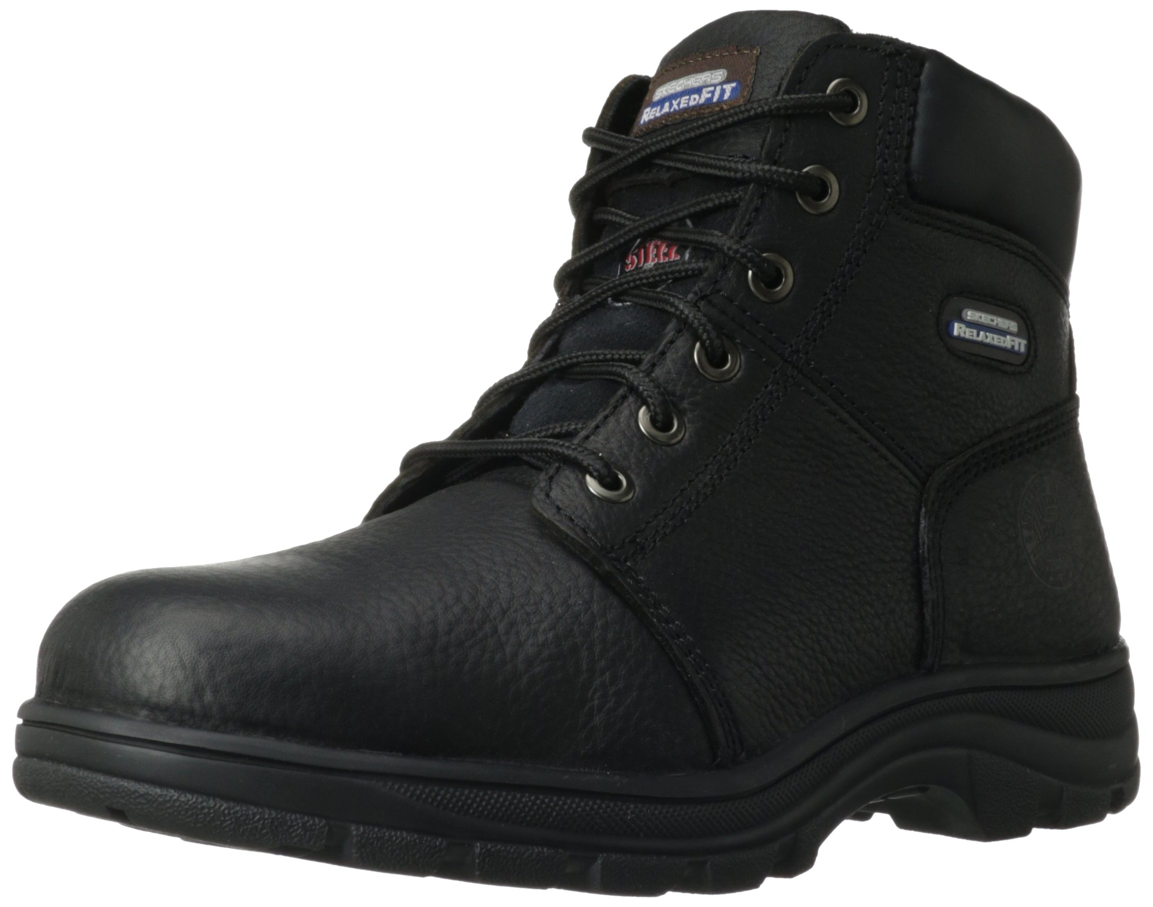 Skechers for Work Men's Workshire Relaxed Fit Work Steel Toe Boot,Black,12 M US by Skechers