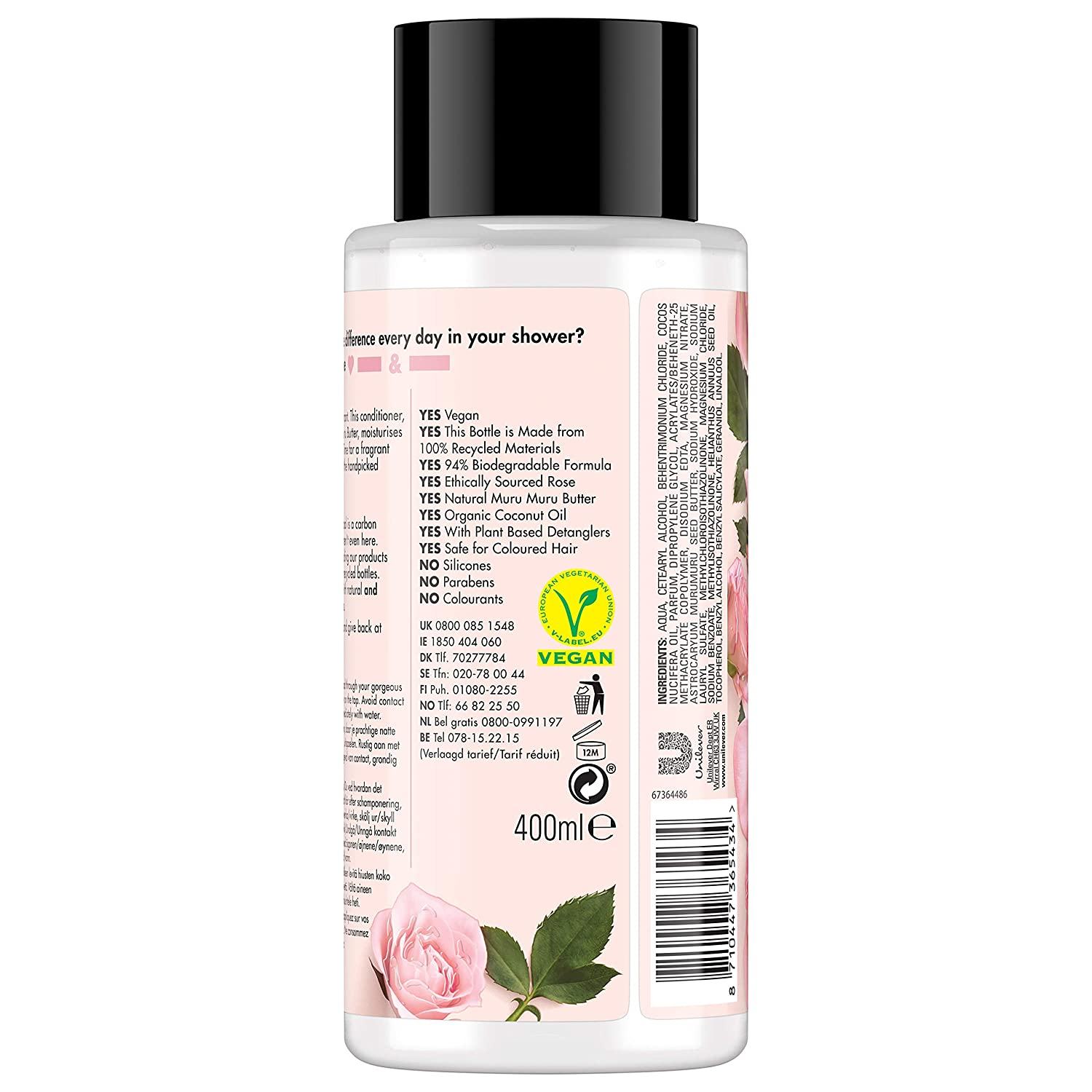 Acondicionador de cabello Love Beauty and Planet, 400 ml: Amazon.es: Salud y cuidado personal
