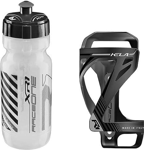 Raceone - Kit Race Duo KELA (2 PCS): Porta Bidon KELA + Bidon de ...