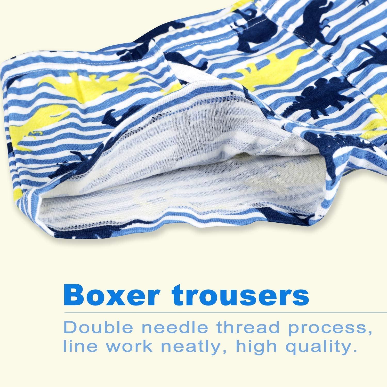 6 Pack Boys Boxer Trunk Boxers Underwear Flyish Boys Boxer Shorts Boys Underwear Briefs 3-10 Years