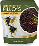 FILLO'S Cuban Black Beans, 6 count, Ready to Eat Sofrito & Beans, Made with Fresh Vegetables, Non-GMO, Plant Protein, Vegan, Microwave Meals, Seasoned Beans