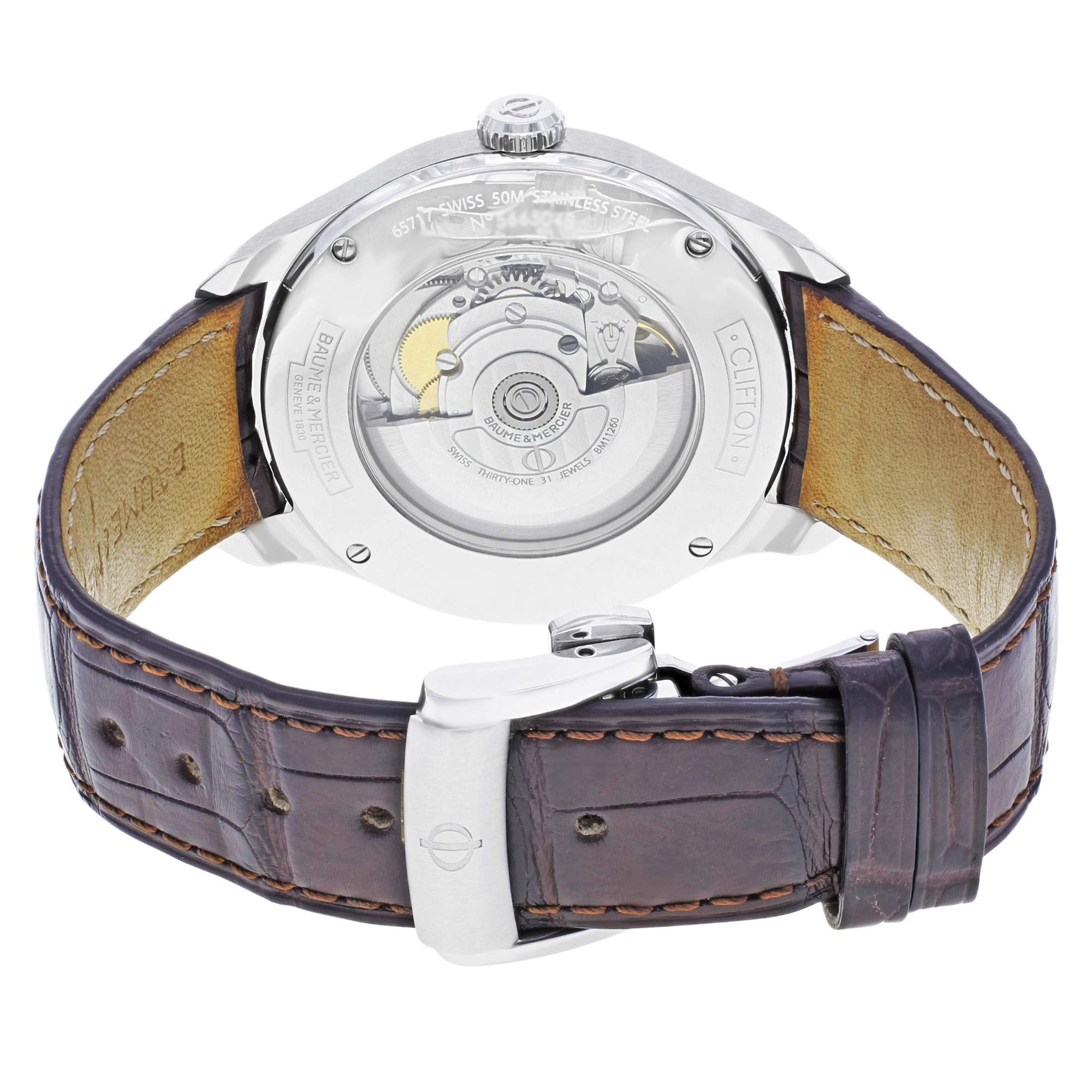 Baume & Mercier Clifton Automatic-self-Wind Male Watch MOA10054 (Certified Pre-Owned) by Baume & Mercier (Image #2)