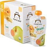 Amazon Brand - Mama Bear Organic Baby Food Pouch, Stage 2, Apple Carrot Apricot Millet, 4 Ounce Pouch (Pack of 12)