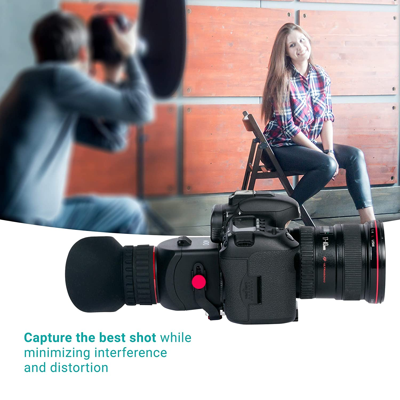 Movo VF40-PRO - Visor de vídeo Universal 3X LCD con Visor abatible ...
