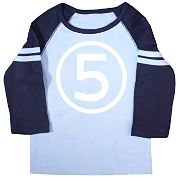 Amazon Happy Family Clothing Little Boys Fifth Birthday Raglan