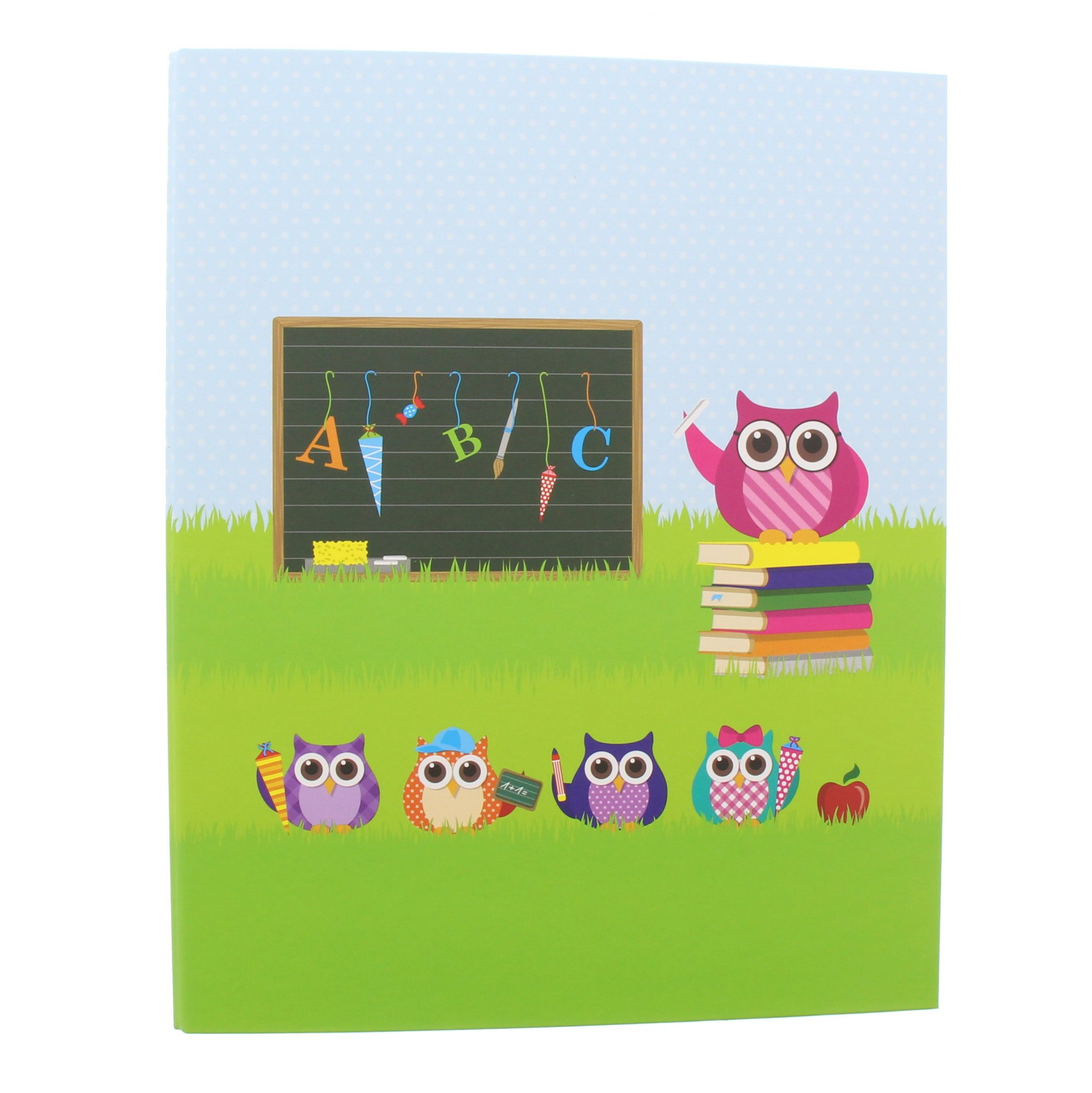 Goldbuch Ring Binder DIN A44cm Feather Owl–Laminated Print, Green and Blue 37043