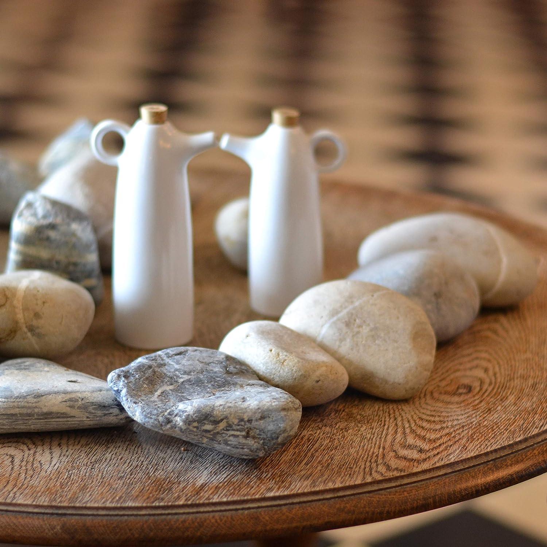 Pitcher Tabletop Oil Vinegar Dispenser 2 White Stoneware Ceramic Cruets with Cork Stoppers Bottle Olivia Oil and Vinegar Set Maia Ming Designs Decanter