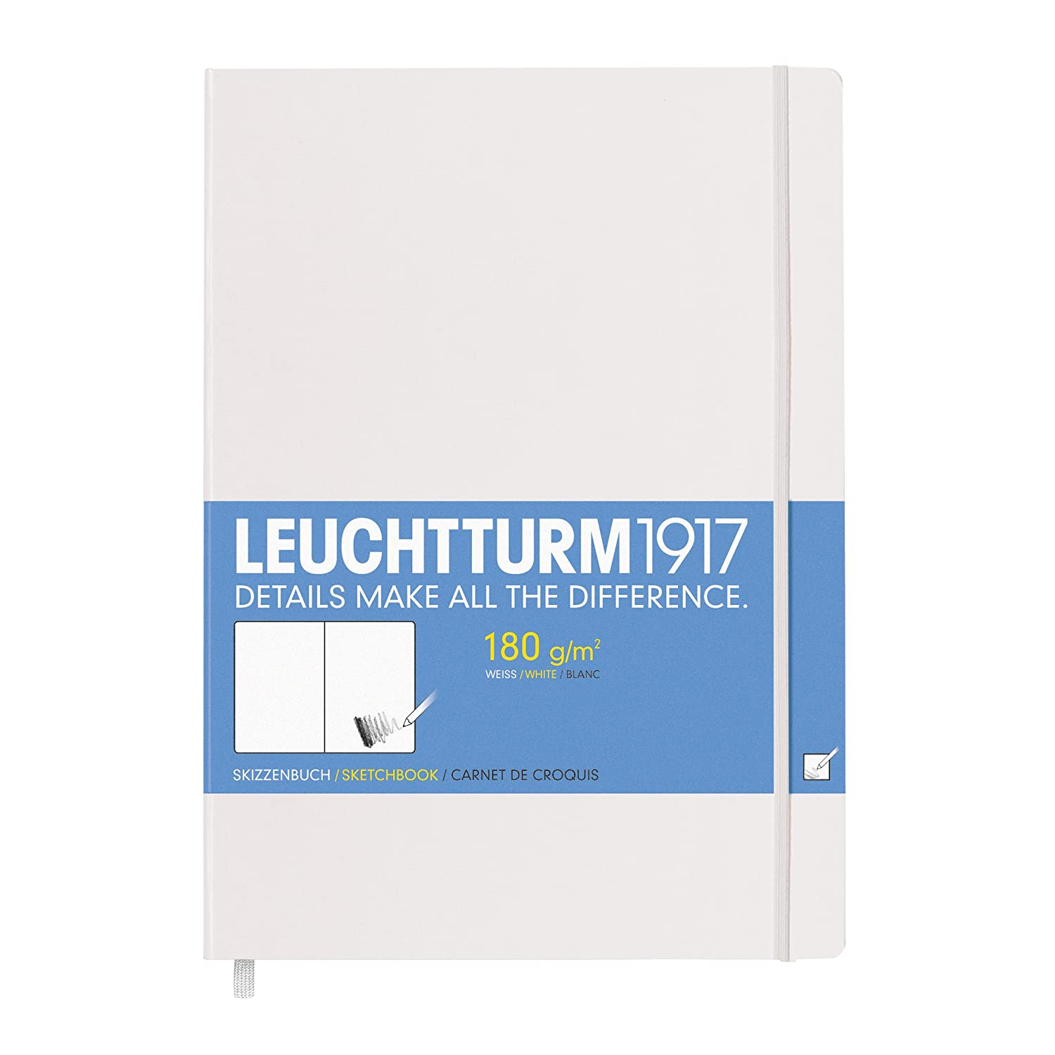 Leuchtturm1917 Hardcover Master A4 Sketchbook White 345003