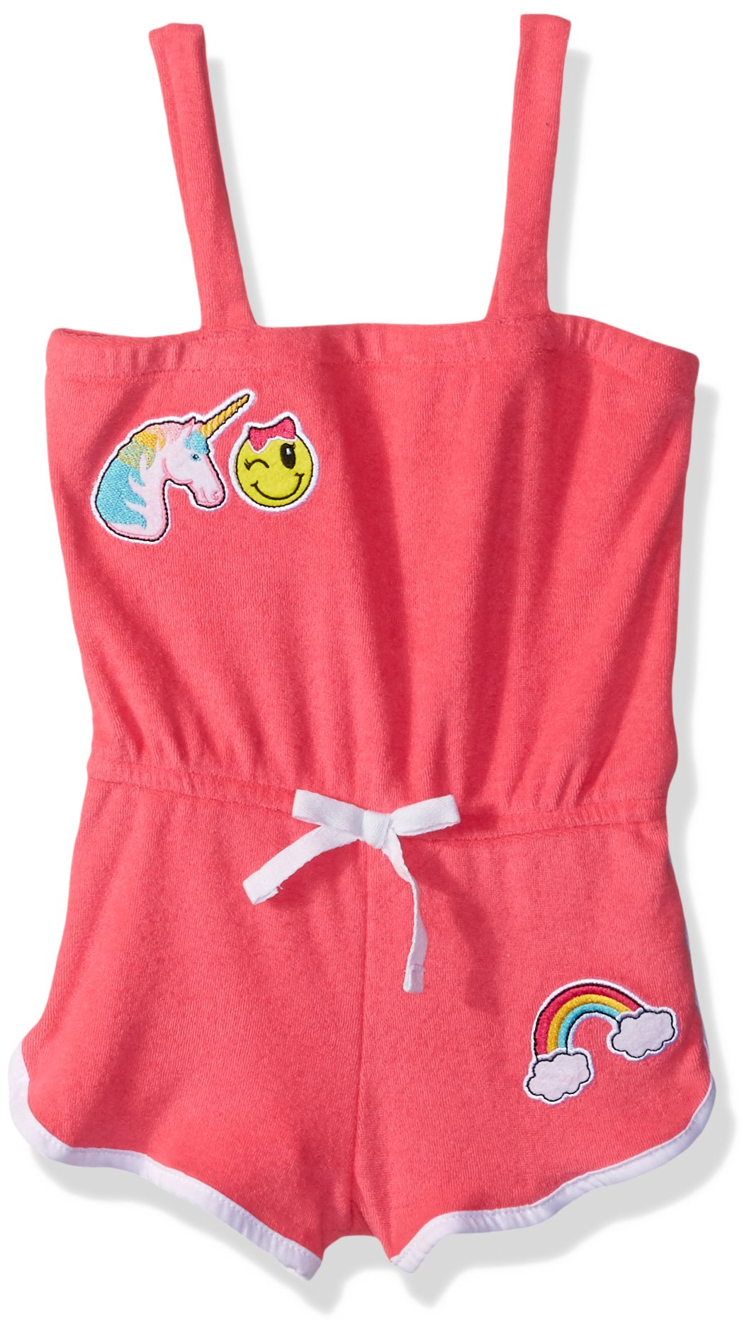 Pink Platinum Toddler Girls' Terry Romper Cover up, Knockout Pink, 2T
