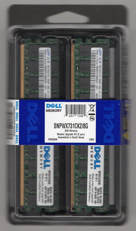 DELL SNPWX731CK2/8G 8GB Memory Kit 2x4GB PC2-6400p 800MHZ