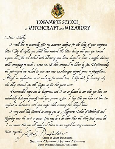 Amazoncom Personalized Harry Potter Apology for Late Delivery of