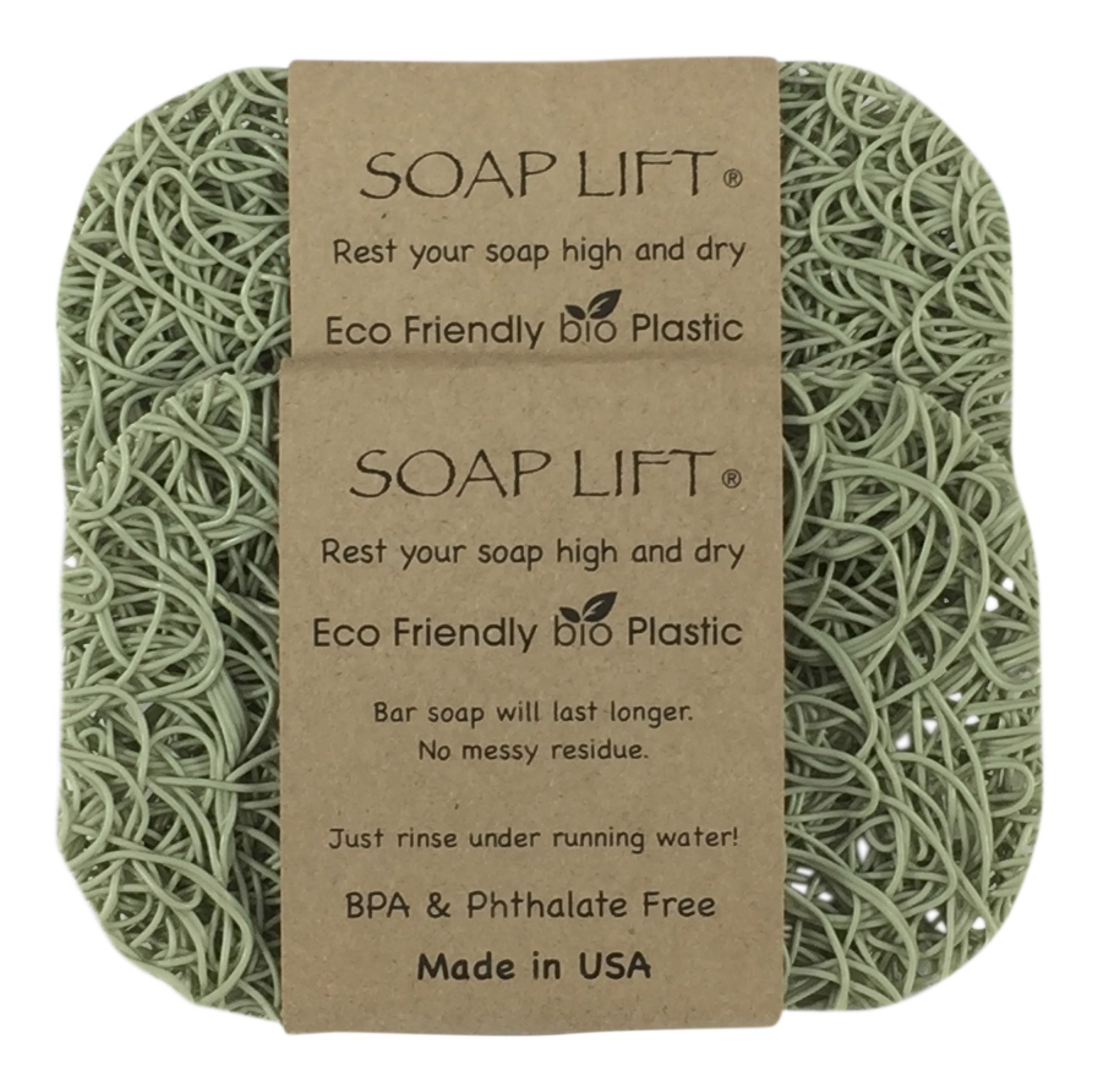 Soap Lift Sage Soap Dish, Two Pack by SoapLift
