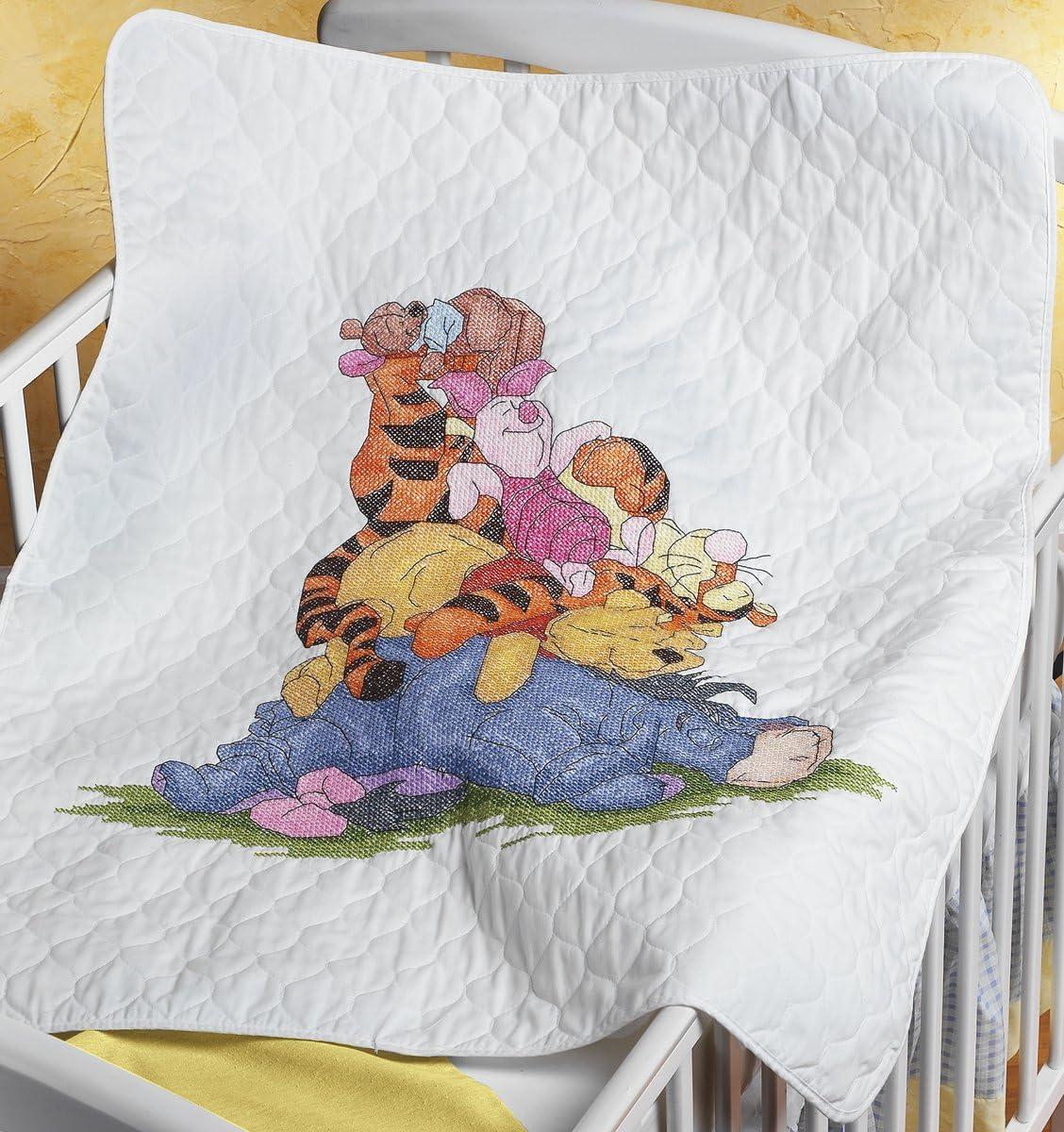 B001708ACW Janlynn Stamped Cross Stitch Kit, 43-1/2-Inch by 34-Inch, Snoozy Day Quilt 81nolEcx5KL.SL1200_