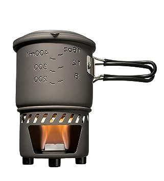 Esbit Cookset Conjunto para cocinar con combustible sólido (bote sin revestimiento antiadherente), color
