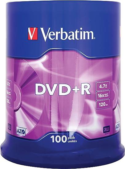 Verbatim Dvd R 16x Matt Silver 4 7gb I 100er Pack Computer Zubehör