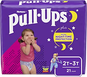 Pull-Ups Night-Time Girls' Training Pants, 2T-3T, 21 Ct
