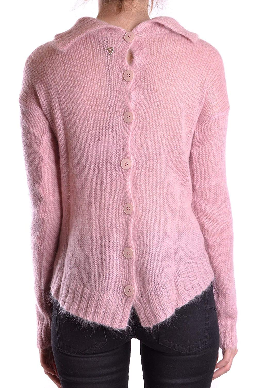 Dondup Womens MCBI18265 Pink Leather Sweater