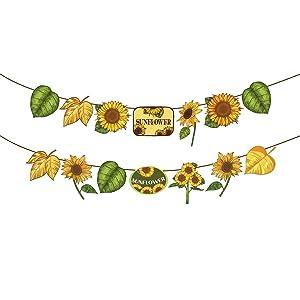 Kristin Paradise Sunflower Banner, Yellow Sunflower Party Sign, Summer Birthday Decorations, Boy Girl Baby Shower Theme Supplies, Bday Kids 1st First Decor