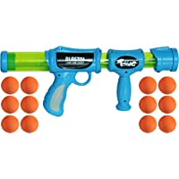 Toiing Blastoi Super Fun Exciting Air Popper Toy Gun with 12 Soft Foam Bullets, Multi Color