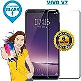 VIVO V7 - Premium Tempered Glass Screen Protector Guard With Kit & Warranty