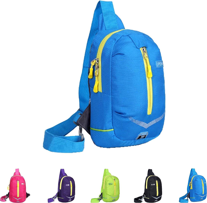 Queenie - Unisex Water Resistant Sling Bag Outdoor Shoulder Backpack Chest Pack Cross body Bags Causal Daypacks