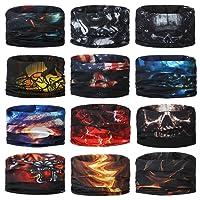 Headwear Head Wrap Deportes Diadema Sweatband Casual Magic bufanda Bandana 12en 1multifuncional 12pcs/9pcs/6pcs para hombres y mujeres