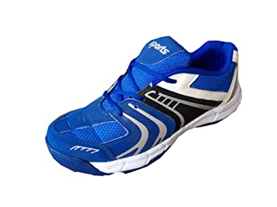 0322210288 ARYANS Men s Blue Cricket PU Rubber Spikes Cricket Sports Shoes ...