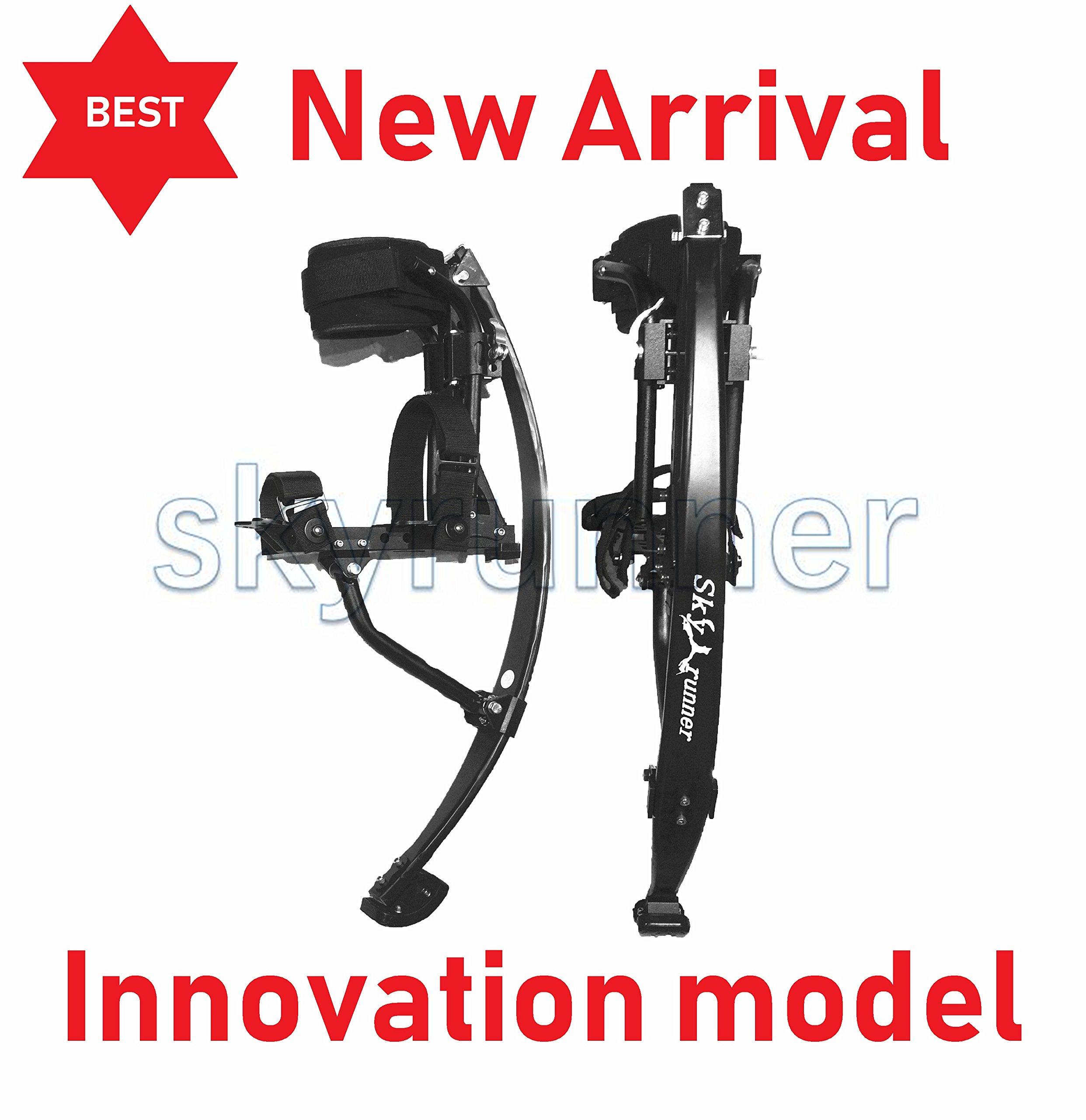Skyrunner NEW MODEL Jumping Stilts POGO STILTS Kangaroo Shoes Bouncing stilts Men Women Fitness Exercise Black (laod weight:85-90KG/187-198LBS)