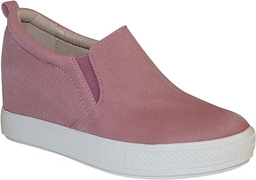 Wanted Women/'s Aravalli HIDDEN HEEL PLATFORM Fashion Wedge Sneaker Pink