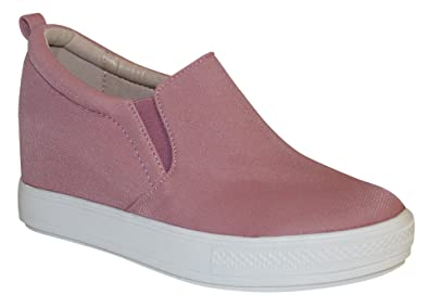 ffa6da89281e Wanted Women s Aravalli Fashion Wedge Sneaker (Pink