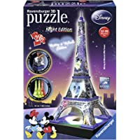 Ravensburger- Puzzle 3DTorre Eiffel Night Disney 216 Piezas