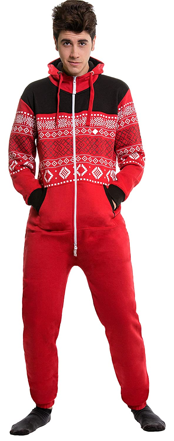 20860da11ab2 Amazon.com  SKYLINEWEARS Men s Fashion Onesie Jumpsuit one Piece Non Footed  Pajamas  Clothing