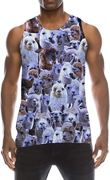 Spreadhoodie Mens Tank/Tops 3D Printed Sleeveless T-Shirts Vest for Holiday Trips Swimming Baths Outdoor Sports Gym S-XXL